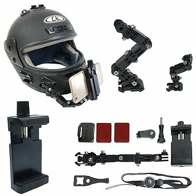 """Cambered Bracket Helmet Curved Adhesive Side Mount for Iphone4-7"""" Cell phone New"""