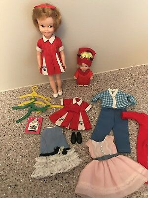 "Vintage Penny Brite 8"" Doll Clothes Shoes fit Ideal Pepper + Uneeda Peewee doll"