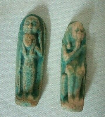 2 Rare Ancient Egyptian Antique Amulet 1856-1569 Bc