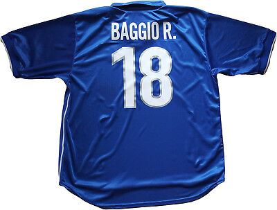 BAGGIO R 18 ITALIA Maillot Maglia Shirt Officiel World Cup France 98 Italy Fußball-Artikel