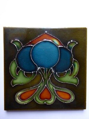 Jugendstil Fliese art nouveau Tile tubelined