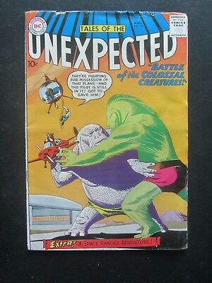 TALES OF THE UNEXPECTED #40 vg Space Ranger key 10c early DC Silver Age 1 bk lot