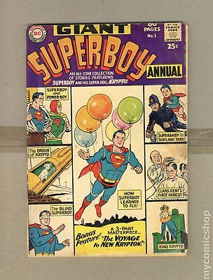 Superboy (1st Series DC) Annual #1 1964 FR 1.0 Low Grade