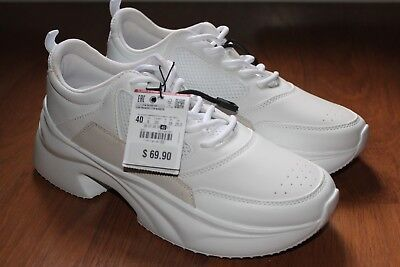 Zara New Woman Ss18 White Chunky Sole Sneakers Ref 1417 301 31 00
