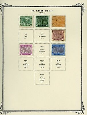 ST KITTS & NEVIS Album Page Lot #SPEC2 - SEE SCAN - $$$