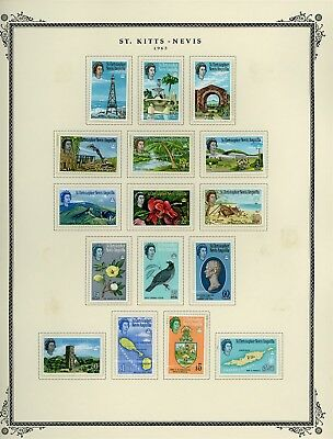 ST KITTS & NEVIS Album Page Lot #SPEC10 - SEE SCAN - $$$