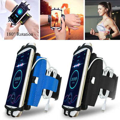 180° Rotation Sport Running Jogging Gym Armband Wrist Band Phone Case Cover Bag