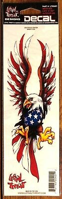 """New! Lethal Threat USA EAGLE CENTER Sticker / Decal 2.573"""" X 7.847"""""""
