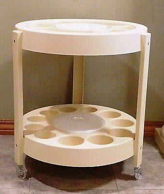 Vtg Mid Century Modern Tasty Temp Portable Bar & Hors-d'oeuvre Tiered Cart - EUC