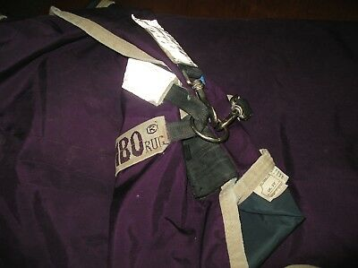 """Washed and reproofed Rambo Wug Lite No fill Turnout Rug 5'9"""" 69"""" super condition"""