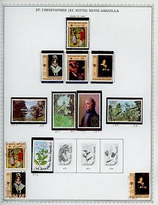 ST KITTS & NEVIS Album Page Lot #SPEC29 - SEE SCAN - $$$
