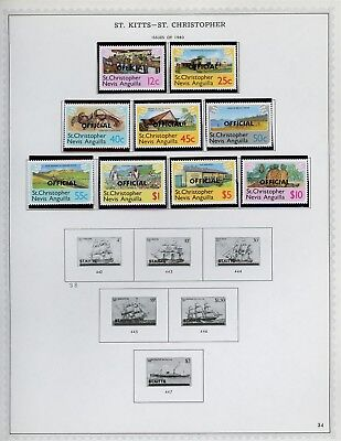 ST KITTS & NEVIS Album Page Lot #SPEC32 - SEE SCAN - $$$