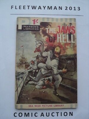#3 Pearsons - Sea War Pictures Library Comic - Scarce - 1962 - Vgc - Commando
