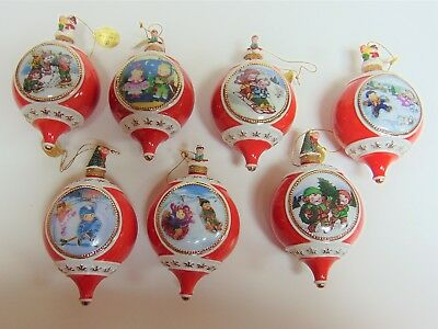 Bradford Editions/exchange Campbells Kids Porcelain Ornaments - Lot Of 7