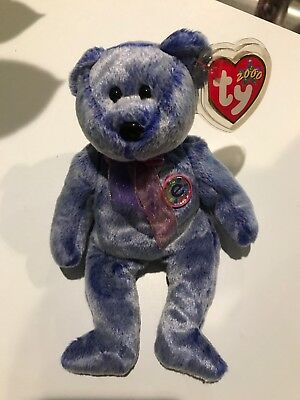 4c67a928955 TY BEANIE BABY - PERIWINKLE the e-Bear (8.5 inch) - MWMTs Stuffed ...