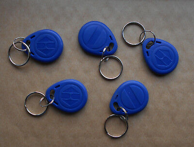 5X RFID 125KHz Re-Writable EM4305 Proximity Access Tag / Key Fobs :