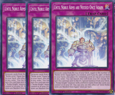 SECRET RARE MP19-EN225 YUGIOH! * UNTIL NOBLE ARMS ARE NEEDED ONCE AGAIN