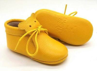 """NEW """"Dainty Bear"""" Baby Bear Boots in Mustard (3 - 18 Months) 100% Leather"""