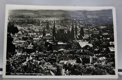 Germany Bad Aachen Gesamtansight Postcard Old Vintage Card View Standard Post PC
