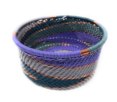 Fair Trade Zulu Telephone Wire Baskets from South Africa - Purple