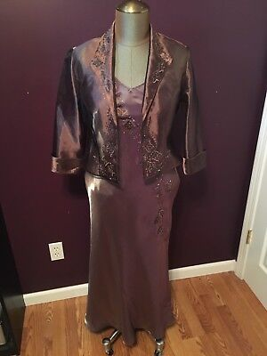 6858621f994 Alex Evenings Mother of the Bride Groom Formal Dress Womens Size 12P 12  Petite