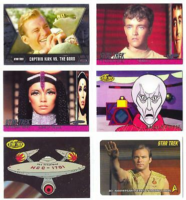 STAR TREK TOS/THE ORIGINAL SERIES--Lot of 30 Mixed Inserts & Promo Cards****