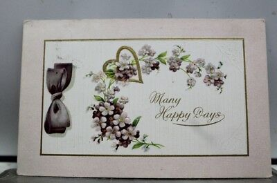 Greetings Many Happy Days Postcard Old Vintage Card View Standard Souvenir Post