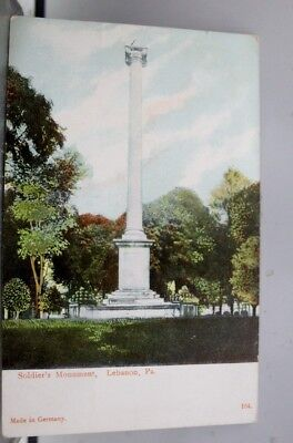 Pennsylvania PA Lebanon Soldiers Monument Postcard Old Vintage Card View Post PC