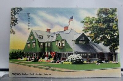 Maine ME York Harbor Murray Lodge Postcard Old Vintage Card View Standard Post