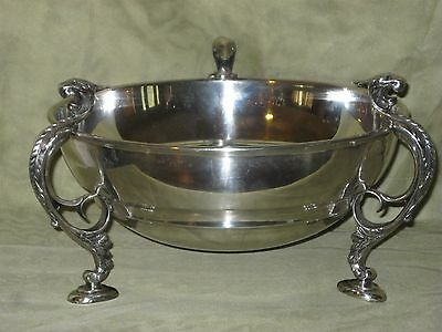 Vintage Sheffield England Silver Plated Over Copper Serving Bowl