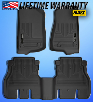 Husky Liners 54631 Black 2nd Seat Floor Liners Fits 2018 Wrangler JL 4 Door