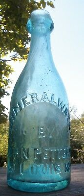 1850's..Iron Pontil, MINERAL WATER BY JOHN PETTERSON, ST. LOUIS, MO...Tough One