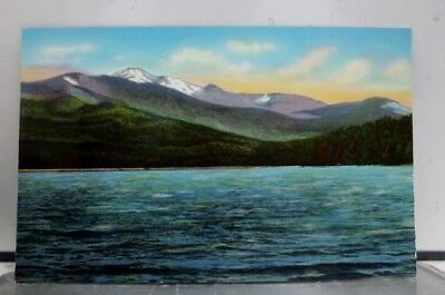 New York NY Tupper Lake Snowy Mountains Postcard Old Vintage Card View Standard