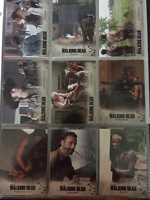 The Walking Dead Trading Card Lot Of 35 Cards