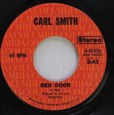 Country 45 Carl Smith - Red Door / You Walked In My Sleep Last Night On Columbia