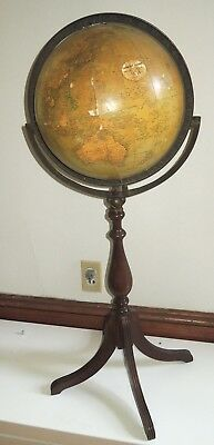 "Antique Vintage 12"" Greenlee Globe /Atlas On Floor Stand As Is 36"" Tall"