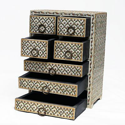 Cabinet Small Drawer Vintage Beautiful Decorative Handicraft Collectible India