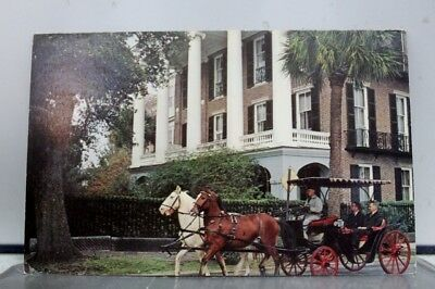 South Carolina SC High Battery Home Charleston Postcard Old Vintage Card View PC