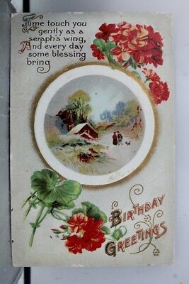 Greetings Birthday Postcard Old Vintage Card View Standard Souvenir Postal Post