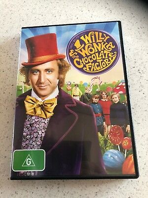 Willy Wonka & The Chocolate Factory (G) DVD Pal Like New Free Postage