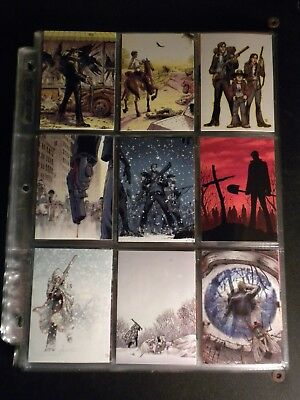 walking dead trading cards comic book series season 2 complete set of 1 to 72