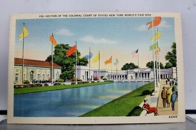 New York NY Colonial Court Worlds Fair Postcard Old Vintage Card View Standard