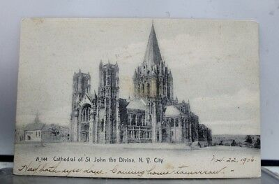 New York NY Cathedral St John the Divine Postcard Old Vintage Card View Standard