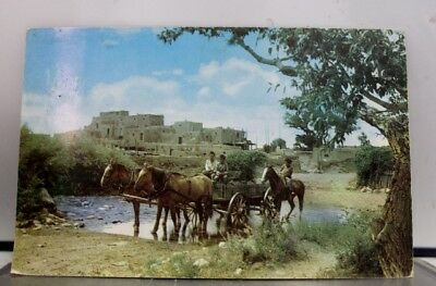 New Mexico NM Taos Pueblo Postcard Old Vintage Card View Standard Souvenir Post
