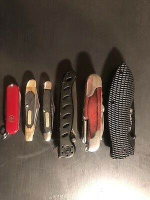 Misc Lot Of 6 Pocket Knives