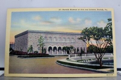 Virginia VA Norfolk Museum of Arts and Science Postcard Old Vintage Card View PC