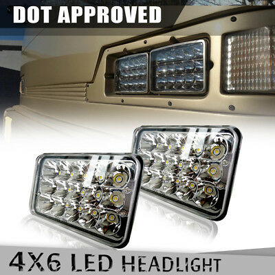 "2Pcs DOT Approved 4''x6"" LED Headlights For Chevrolet Kenworth H4652 H4666 H4651"