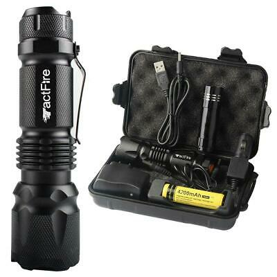 200000Lumens Zoom LED Headlamp Torch Rechargeable 18650 Lamp w/ Battery+USB