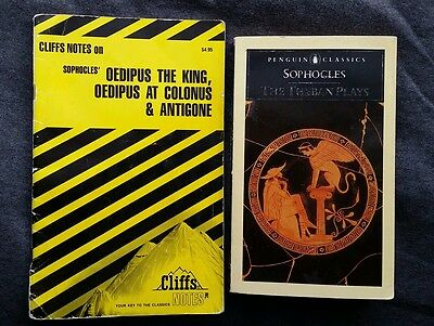The Theban Plays Sophocles w/ Cliffs Notes Penguin Classic Oedipus King Antigone