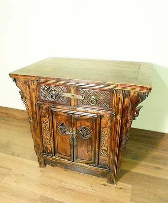 """Antique Chinese """"Butterfly"""" Cabinet (5721), Circa 1800-1849"""